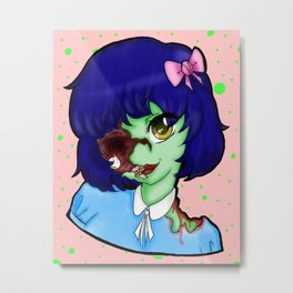 Zombie for You! Metal Print