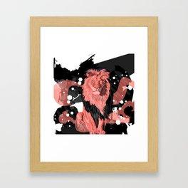Lion Coral Framed Art Print