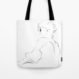graphic sketch of a woman Tote Bag