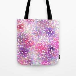Pink and Purple Galaxy Confetti Tote Bag