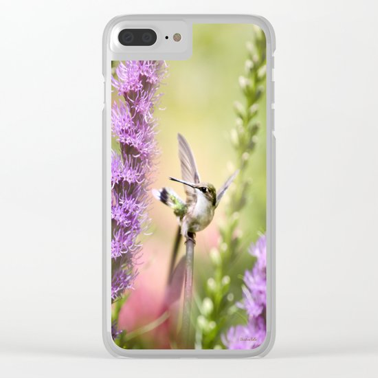 Hummingbird Whimsy Clear iPhone Case