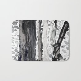 Rainbow Eucalyptus Graffiti artist tree from shedding bark South Pacific Black and White Night Bath Mat