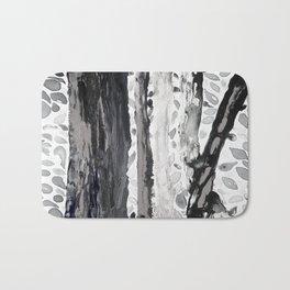 Rainbow Eucalyptus Graffiti artist tree from shedding bark South Pacific Black and White Night Bath Mat
