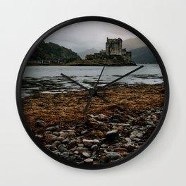 Eliean Donan Castle Scotland nature isle of skye scottish castles Wall Clock
