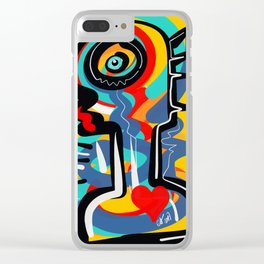 Wild Heart Street Art Graffiti Primitive Clear iPhone Case
