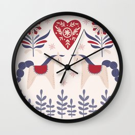 Swedish Christmas 3 Wall Clock
