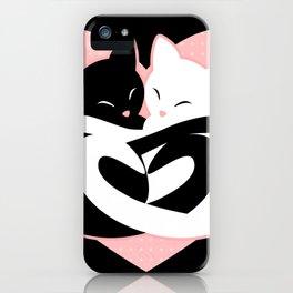 Balanced Feline Love iPhone Case
