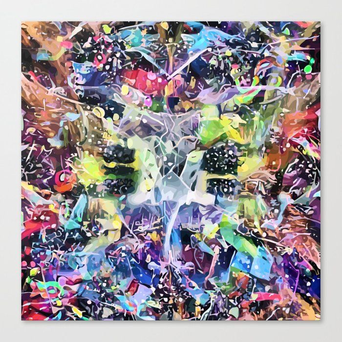 Crow's Paintbrush Canvas Print