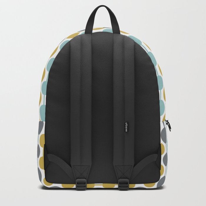 Retro Circles Mid Century Modern Background Backpack