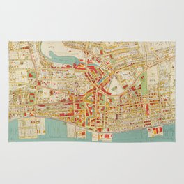 Vintage Map of Yonkers NY (1893) Rug