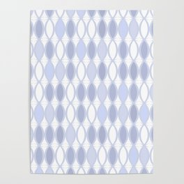 Gray-blue pattern on white. Poster