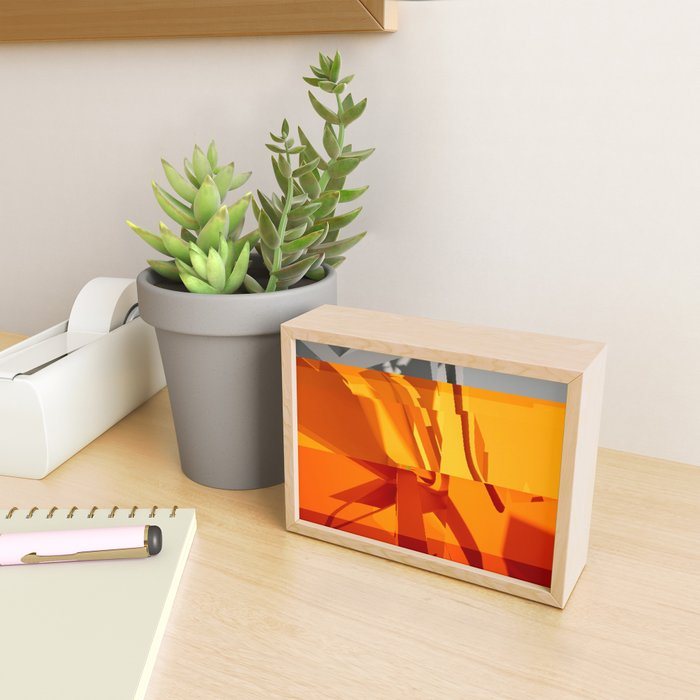 Abstract Glitch 02 Framed Mini Art Print