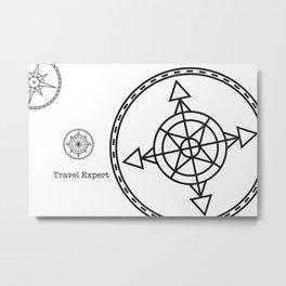 Travel Expert Metal Print