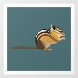 Chipmunk Art Print