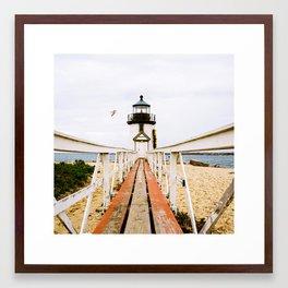 Lighthouse on Nantucket Framed Art Print