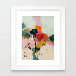 paysage abstract Framed Art Print