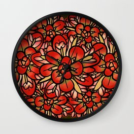 Indian Paintbrushes Wall Clock