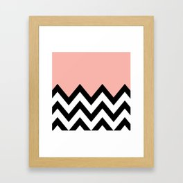 CORA COLORBLOCK CHEVRON  Framed Art Print