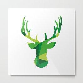 Deer Mosaic Metal Print