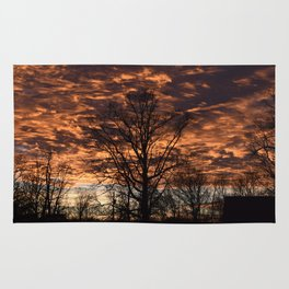 Sky on Fire in Tennessee Rug