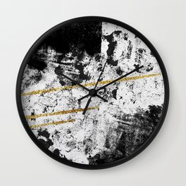 Gilded Grit Light Wall Clock
