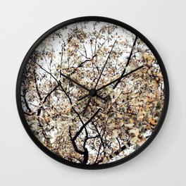 Fading autumn Wall Clock