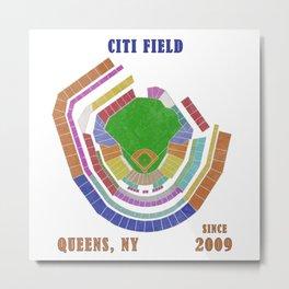 Citi Field Baseball Stadium, Queens, NY Metal Print