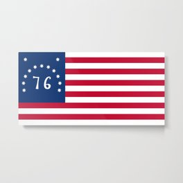 American Bennington flag - Authentic scale and color Metal Print