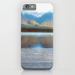 Lake reflections watercolor painting #2 iPhone Case