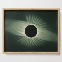 Vintage Eclipse Illustration Serving Tray