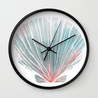 shell Wall Clocks featuring Shell by Adara Sánchez Anguiano