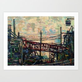"""Entropy, Steel Mill"" Art Print"