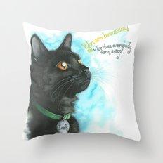 Black Cat-2 Throw Pillow