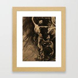 Dancer (Black & White) Framed Art Print