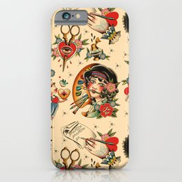 Makers Gonna Make Pattern Tea Stain iPhone Case