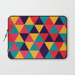 Colorful Triangles (Bright Colors) Laptop Sleeve