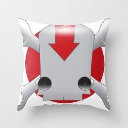 Robot Skull Throw Pillow