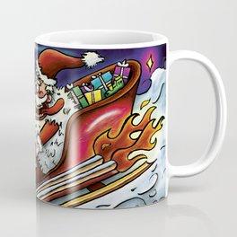 Hotrod Santa Coffee Mug