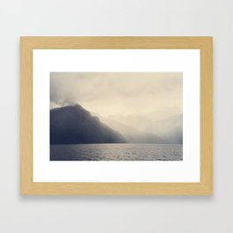 Foggy Fjord, North Sea Framed Art Print