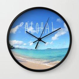 Lanikai Aloha v2 Wall Clock