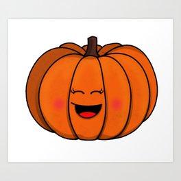 The happy pumpkin Art Print