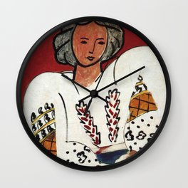 Henri Matisse - The Romanian Blouse - Exhibition Poster Wall Clock
