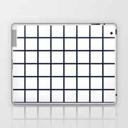 GRID DESIGN (NAVY BLUE-WHITE) Laptop & iPad Skin