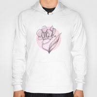 orchid Hoodies featuring Orchid by Holly Nekonam