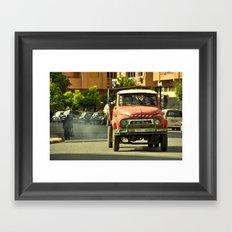 Morrocan Pick up Framed Art Print