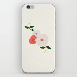 Love-Ly Flowers Pink & White iPhone Skin