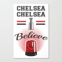 blackhawks Canvas Prints featuring Chelsea Dagger by marty_mcfly