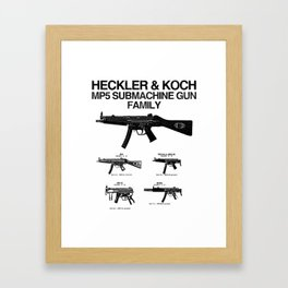 MP5 SUBMACHINE GUN FAMILY Framed Art Print