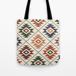 Aztec Symbol Pattern Col Mix Tote Bag