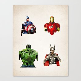 Polygon Heroes - Avengers Canvas Print